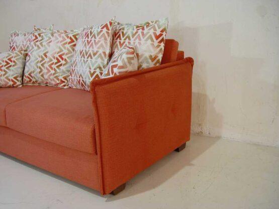 Καναπές-κρεβάτι-Ίμια-λεπτό-με-ρέλι-πλάτη-ελεύθερα-μαξιλάρια.-καναπές κρεβάτι