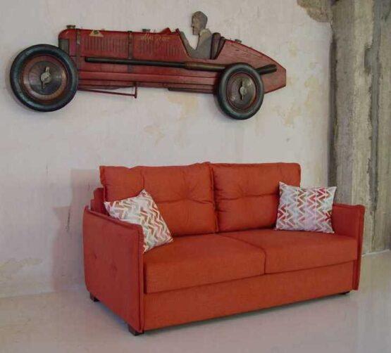 Καναπές κρεβάτι Ίμια λεπτό με ρέλι πλάτη καπιτονέ